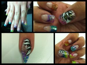Sculpted Acrylic Nails & Nail Art